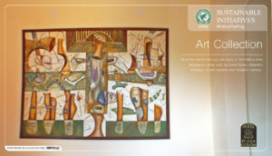 Sustainable hotel art collection