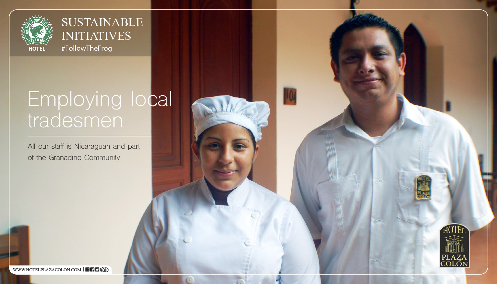 Sustainable hotel local talent