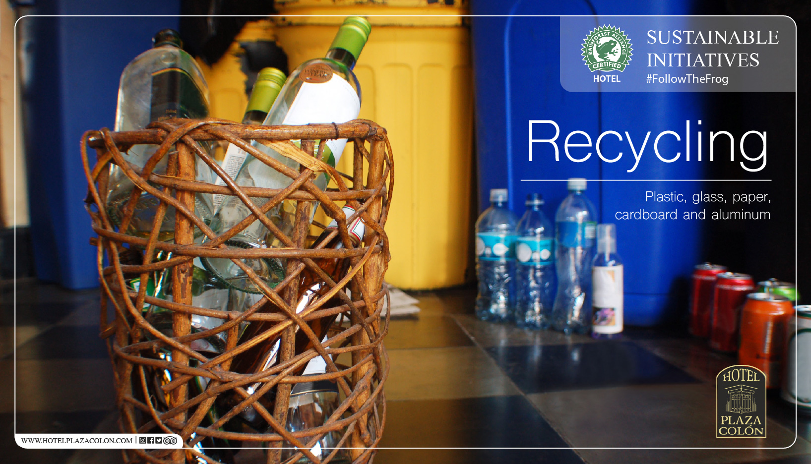 Sustainable hotel recycle